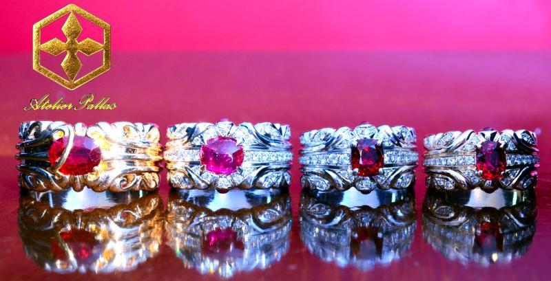 私の作った指輪たち