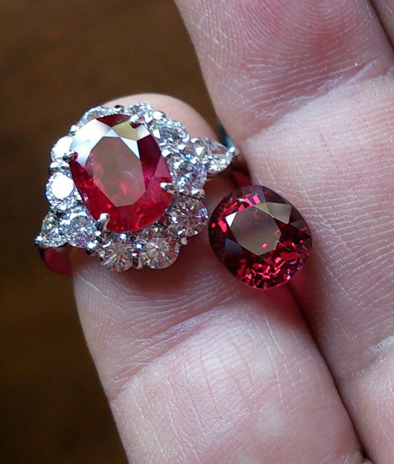 高品質ルビーの指輪