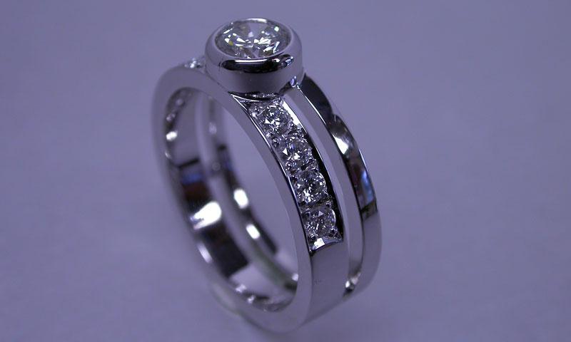 鍛造で作った指輪