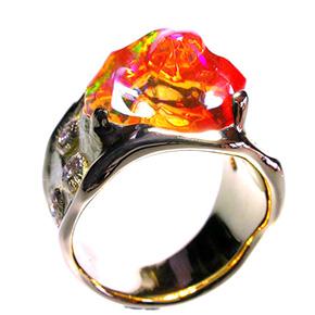 メキシコオパールの指輪