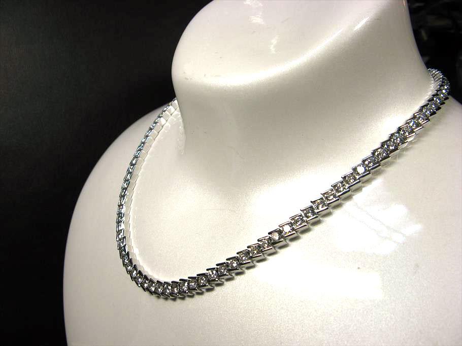 K18YG、ダイヤモンド14ct全周ネックレス