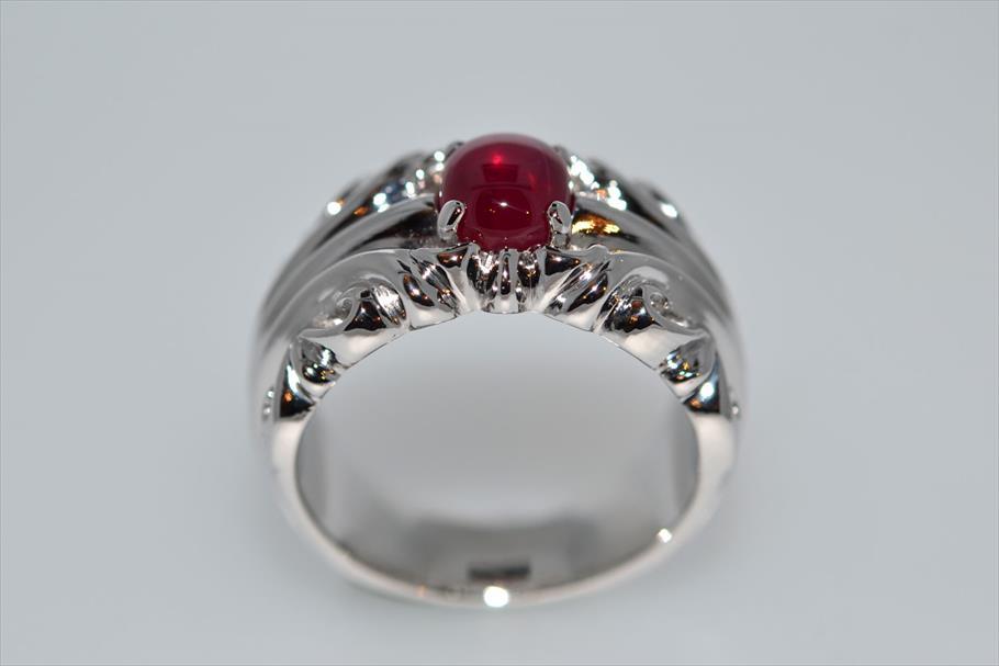 ミャンマー・モゴック産2.86ctの指輪制作