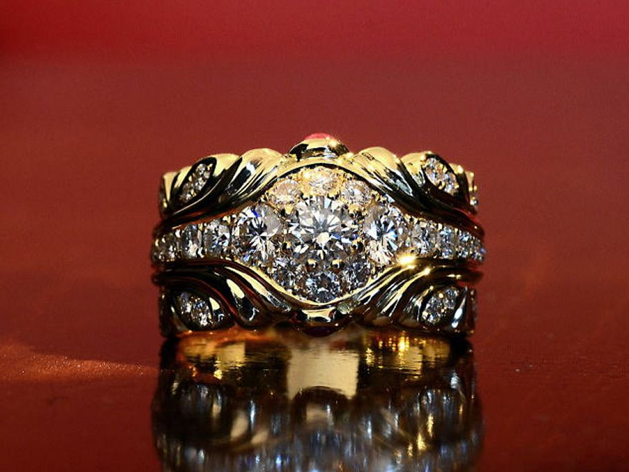 ダイヤモンド0.5カラットのマハラジャリング