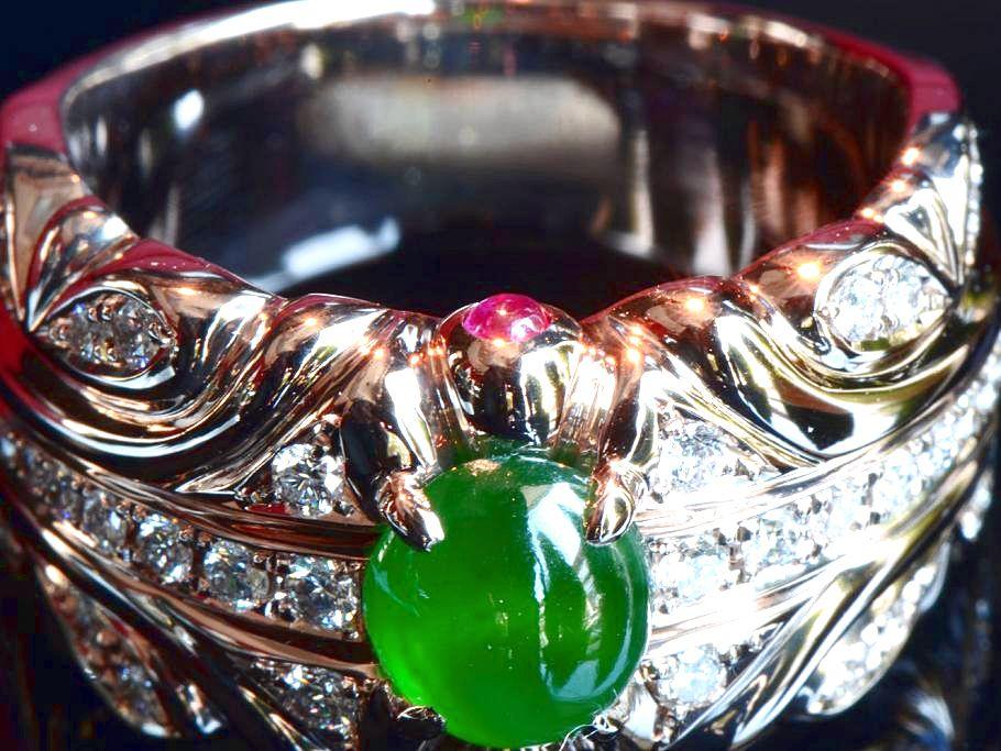 ミャンマー・カチン産ヒスイの指輪制作