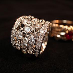 0.5カラット ダイヤモンド プラチナメッシュリング